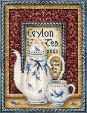 """Counted Cross Stitch Kit Make Your Own Hands - """"Tea collection: Orange Pekoe"""""""
