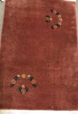 Art Deco Chinese Rug,An Awesome Antique Vintage Design Art Deco Chinese Rug 3'x2