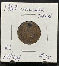 1863 Cwt. For Public Accomodation Liberty Eagle Holed Fuld# 37/434 (3065)