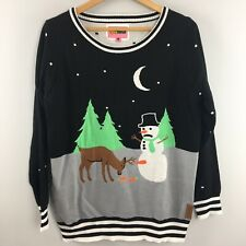 Tipsy Elves Christmas Sweater L Large Snowman Reindeer Raunchy Naughty