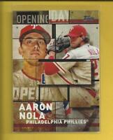 Aaron Nola 2018 Topps Series 1 Opening Day Insert Card # OD-23 Phillies Baseball