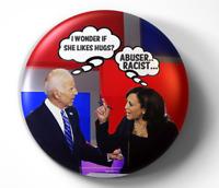 Joe Biden Kamala Harris Presdent Funny - pin pinback button - FREE Shipping