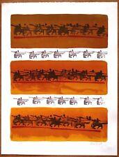 Nissan Engel  Golden Horsemen   Vintage Original Ltd Ed Artists Proof Lithograph