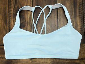 LULULEMON Free To Be Bra Size 8 Caspian Breezy Blue Luxtreme Strappy Sports Yoga