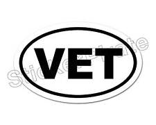* Oval Car Magnet VET Magnetic Bumper Sticker