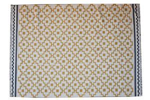 Beige Color Afghan Oriental Hand woven Ghazni Wool Kilim Carpet Area Rug 6x8 ft