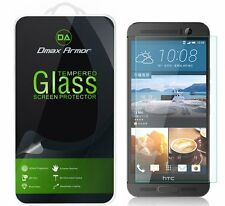 2x Dmax Armor for HTC One M9+ (Plus) Tempered Glass Screen Protector
