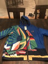 Polo Ralph Lauren 1992 Newport Yacht Sailing Water Repellent Graphic Jacket XL