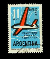 Argentina Stamps /1963 / Air Mail  / 9th. World Torun. of Gliders / Used