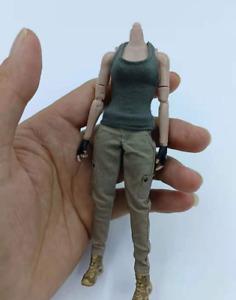 "1/12 Scale Female Soldiers Clothes Model Gray Vest&Khaki Overalls Suit F 6"" Body"