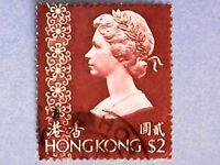 Hong Kong. QE2 1976 $2 Multicoloured. SG350. No Wmk. P14 x 14½. Used.