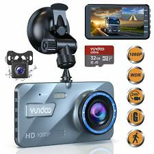 New Yundoo Update Dual Dash Cam Car Camera 32GB SD Card Full HD 1080 Parking Aid