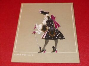 ART DECO COSTUMES RAYMOND FOST OFFENBACH GRANDE DUCHESS 1948 ORIGINAL GOUACHE