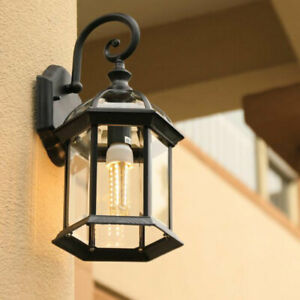 Vintage  Outdoor Wall Light IP44 Glass Wall Sconce Garden Wall Lamp