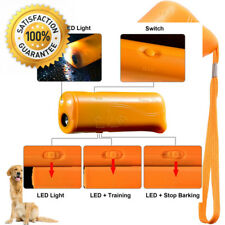 LED Ultrasonic Dog Repeller and Trainer Device 3 in 1 Anti Barking Stop Bark...