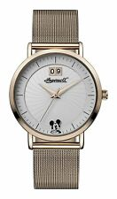 Ingersoll Disney Rose Gold Stainless Steel Mesh Band Womens Watch ID00504