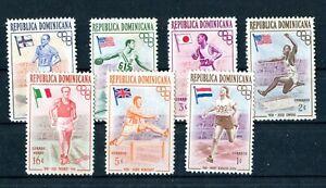DOMINICANA 1957 Olympics 7v short set MINT (A-1818)