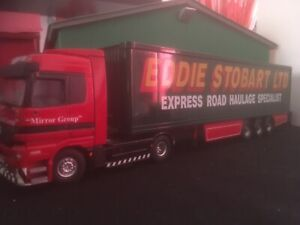 TEKNO.  Code 3 1/50. MERCEDES 4x2.  AND. TRAILER. IN STOBART