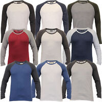 Mens Top Brave Soul Long Sleeved T Shirt Jersey Crew Neck Casual Summer Fashion