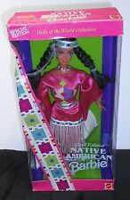 Native American Barbie Doll, 1994 Dolls Of The World, 12699, Displayed In Box!