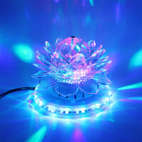 Mini RGB LED Stage Light Auto Rotating Crystal Magic Ball Sunflower Lamp for KTV