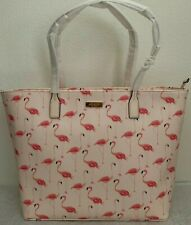 NWT Kate Spade Shore Street Festive Flamingos Margareta Tote Bag $299 Pink Multi