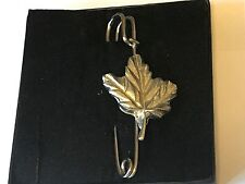 "Kilt Pin Pewter 3"" 7.5 cm Big Maple Leaf Tg237 Pewter Scarf and"