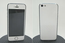 iPhone 5 3M Di-Noc White Carbon Fiber Vinyl Full Body Skin sticker * For i5 *