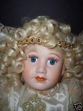 L@@K! BEAUTIFUL HOLIDAY ANGEL PORCELEIN DOLL