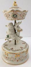 LENOX Holidays China Jewels Musical Figurines CAROUSEL Santa Reindeer Christmas