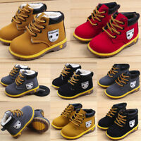 Baby Children Warm Boys Girls Sneaker Snow Boots Comfy Leather Shoes