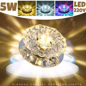 5W LED Crystal Ceiling Light Wall Sconce Lighting Fixture Decor Flush Mount Lamp