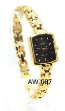 New Citizen Ladies Gold-tone, Black-dial Dress Watch