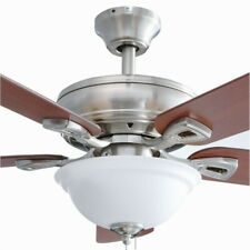 Rothley 52 in. LED Brushed Nickel Ceiling Fan with Light Kit, BRAND NEW IN BOX