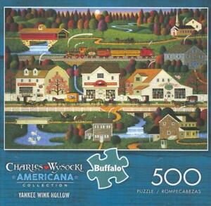 Charles Wysocki 500Pc Americana collection Jigsaw Puzzle Yankee Wink Hollow NIB