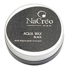 Nacreo Aqua Wax Black 50ml coloured hair wax to disguise grey hair- UK STOCKIST