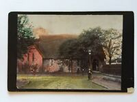 Large Victorian Cabinet Card Photo - Rare Scottish Building - Church Tinted 1893
