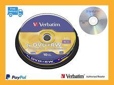 ($0 p+h) Verbatim Rewritable disc DVD+RW 10 Pk Spindle 4x speed 43488