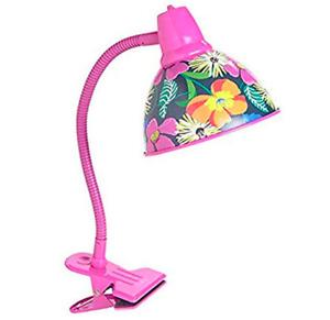 New VERA BRADLEY Clip-On Goose Neck Lamp in Jazzy Blooms Desk Headboard