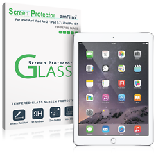 iPad 9.7, Pro 9.7, Air, Air 2 amFilm Tempered Glass Screen Protector (1 Pack)
