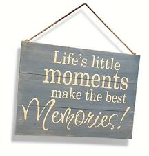 Life's Little Moments Best Memories Shabby Chic Rustic Sign Beach Wall Design