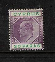 Cyprus SG# 51 Violet Mint Hinged / Hinge Rem - S1497