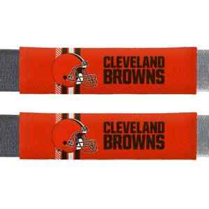 CLEVELAND BROWNS RALLY SEAT BELT PADS SHOULDER PROTECTOR 2 PACK
