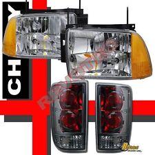 1995-1997 Chevy Blazer S10 LT LS Headlights Chrome + Tail Lights Smoke