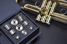 Stomvi Trumpet Trim Kit V6 Heavy Caps. KGUBrass. Raw Brass. TKV6R213