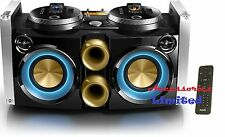 NEW- Philips FWP3200D Dual iPod iPhone Docking DJ Mixer Boombox Karaoke Speakers