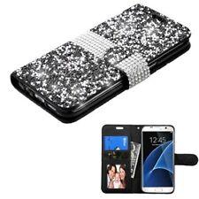 Custodie portafogli nero con strass, gioielli per cellulari e palmari