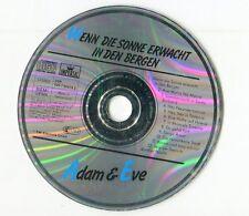 Adam & Eve cd  WENN DIE SONNE ERWACHT ..  © 1989 EMI switzerland # CDP 520 90976