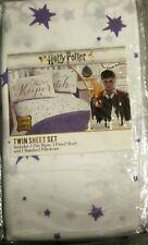 Harry Potter White & Purple 3 Pc Twin Sheet Set  NEW!