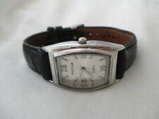 Waltham Classy Black & Silver Toned Wristwatch w/ Adjustable Buckle Band